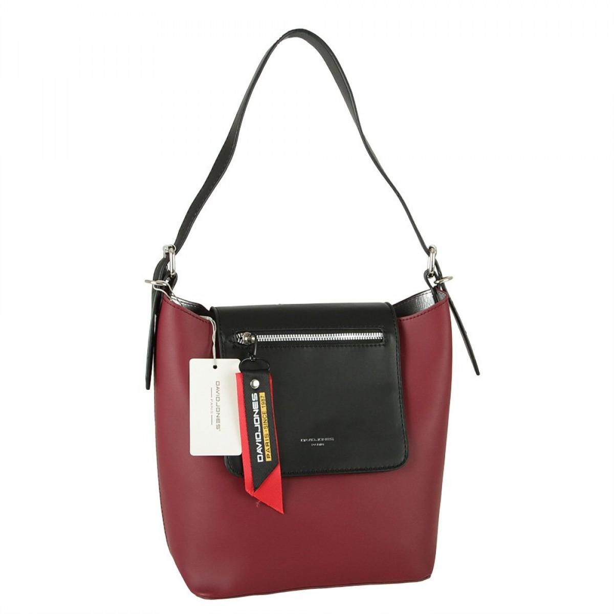 Жіноча сумка David Jones CM5828 BORDEAUX