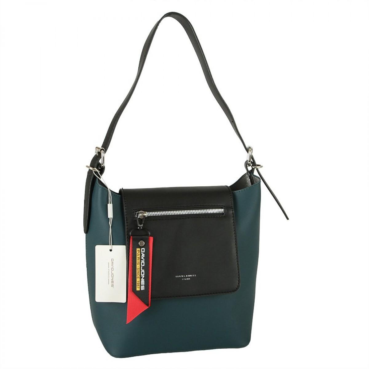 Жіноча сумка David Jones CM5828 PEACOCK BLUE