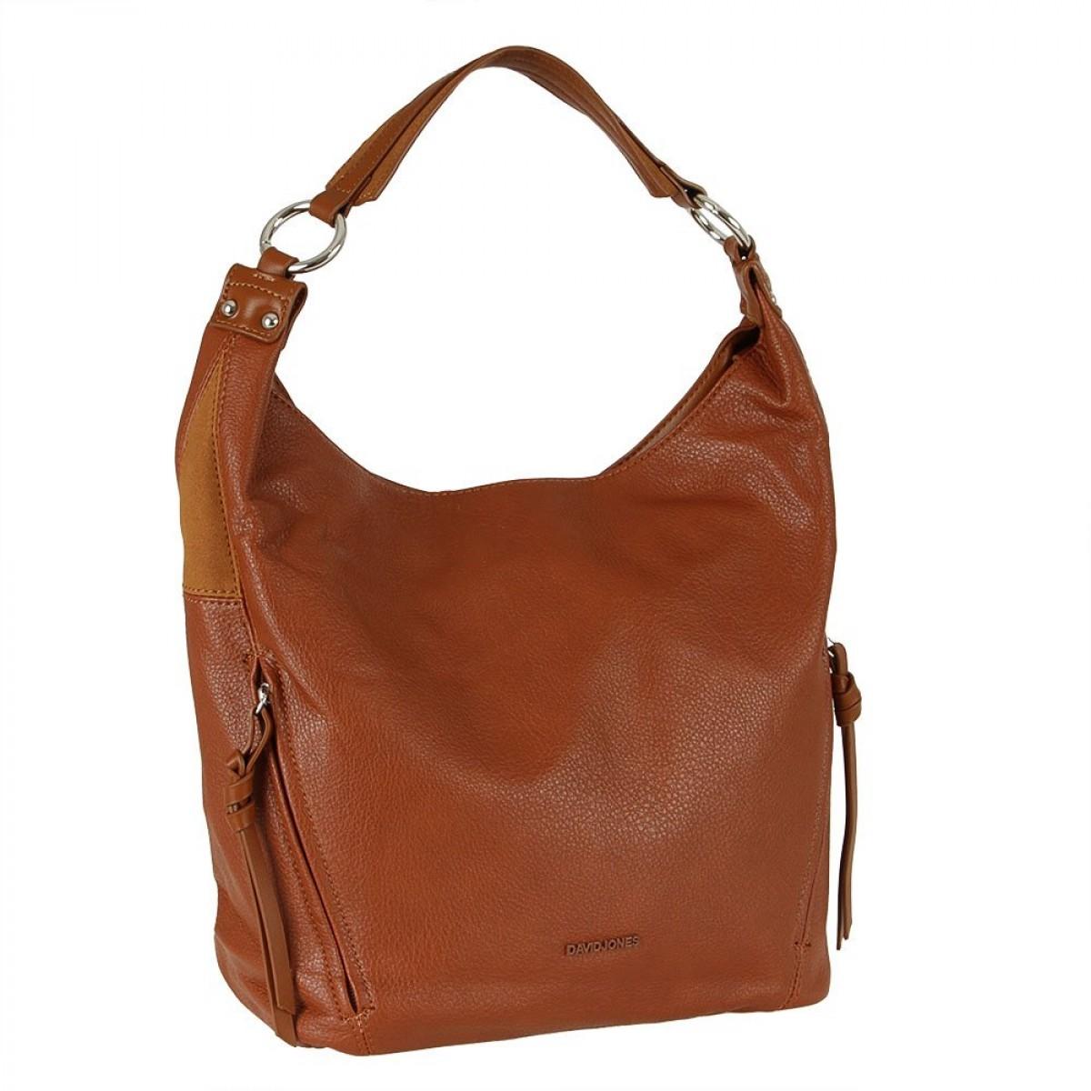 Жіноча сумка David Jones CM5833 COGNAC