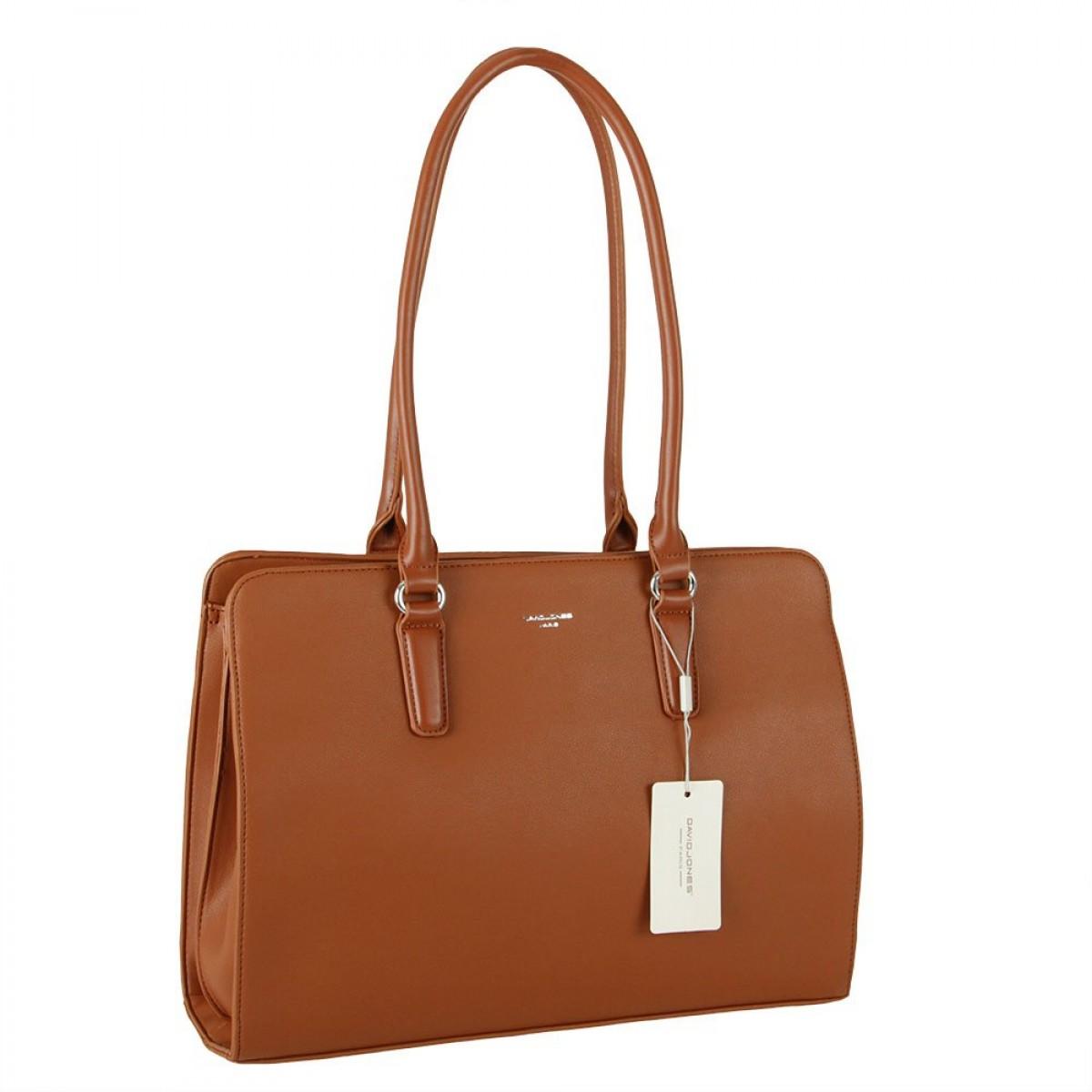 Жіноча сумка David Jones CM5839 COGNAC