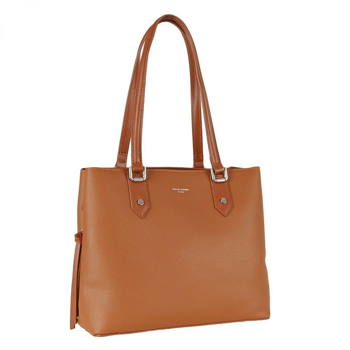 Жіноча сумка David Jones CM5843 COGNAC