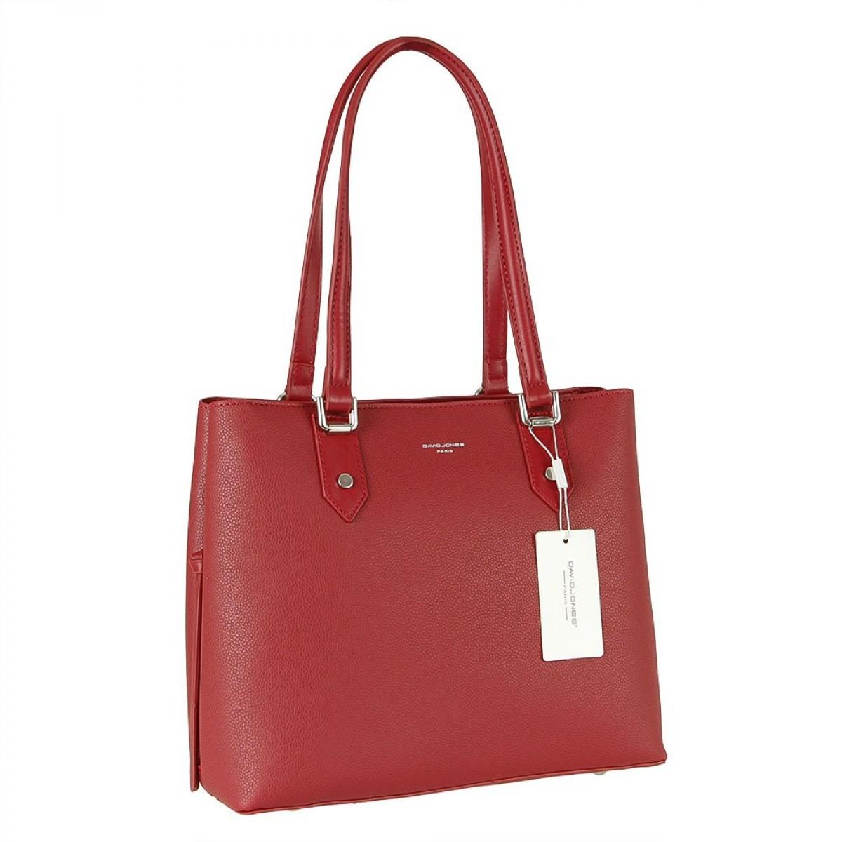 Жіноча сумка David Jones CM5843 DARK RED