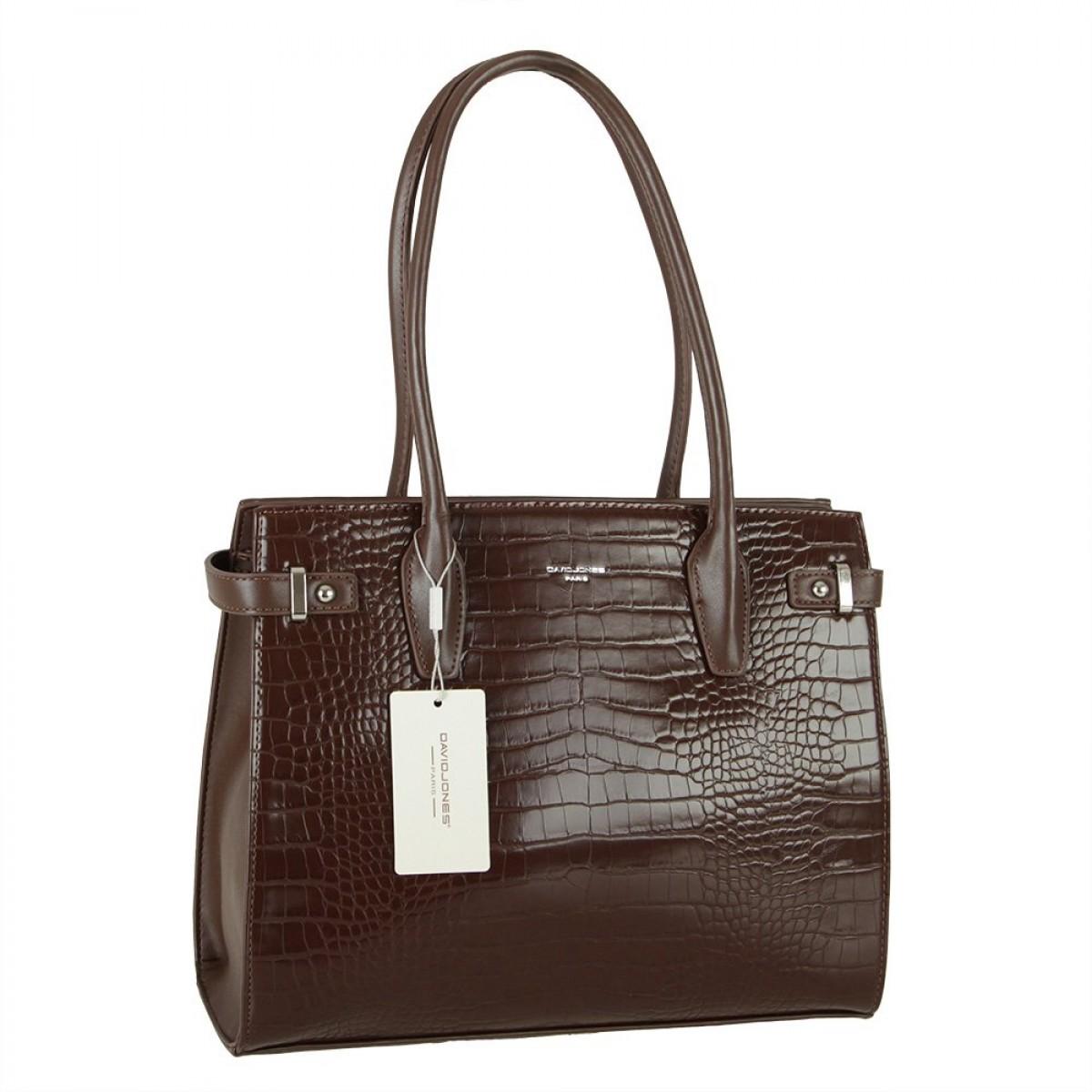 Жіноча сумка David Jones CM5846 D.BROWN