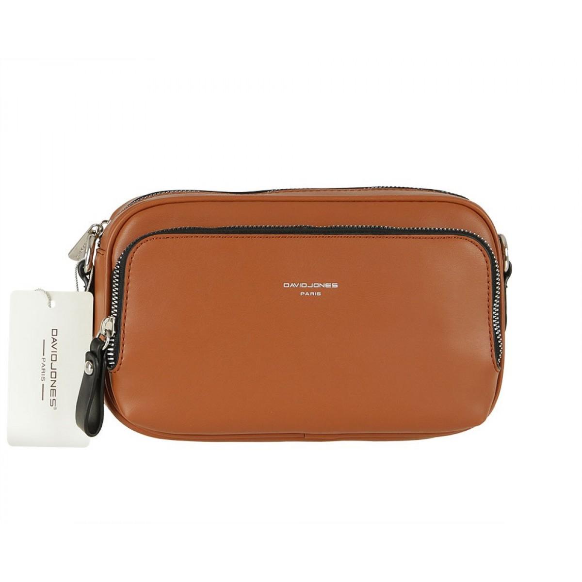 Жіноча сумка David Jones CM5849 COGNAC