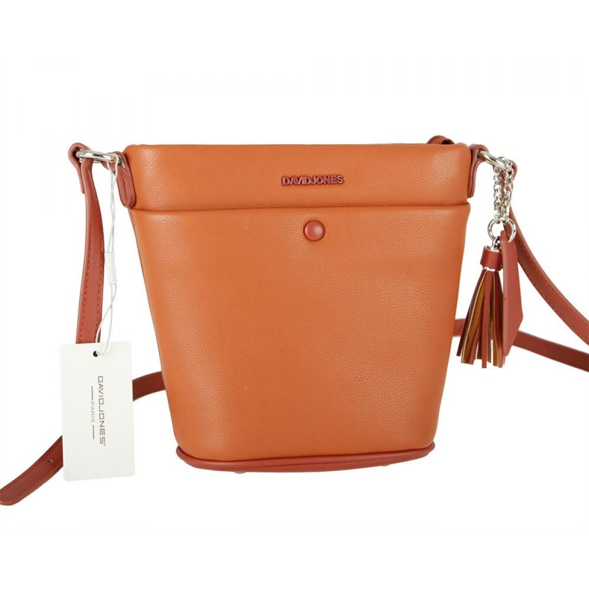Жіноча сумка David Jones CM5851 COGNAC