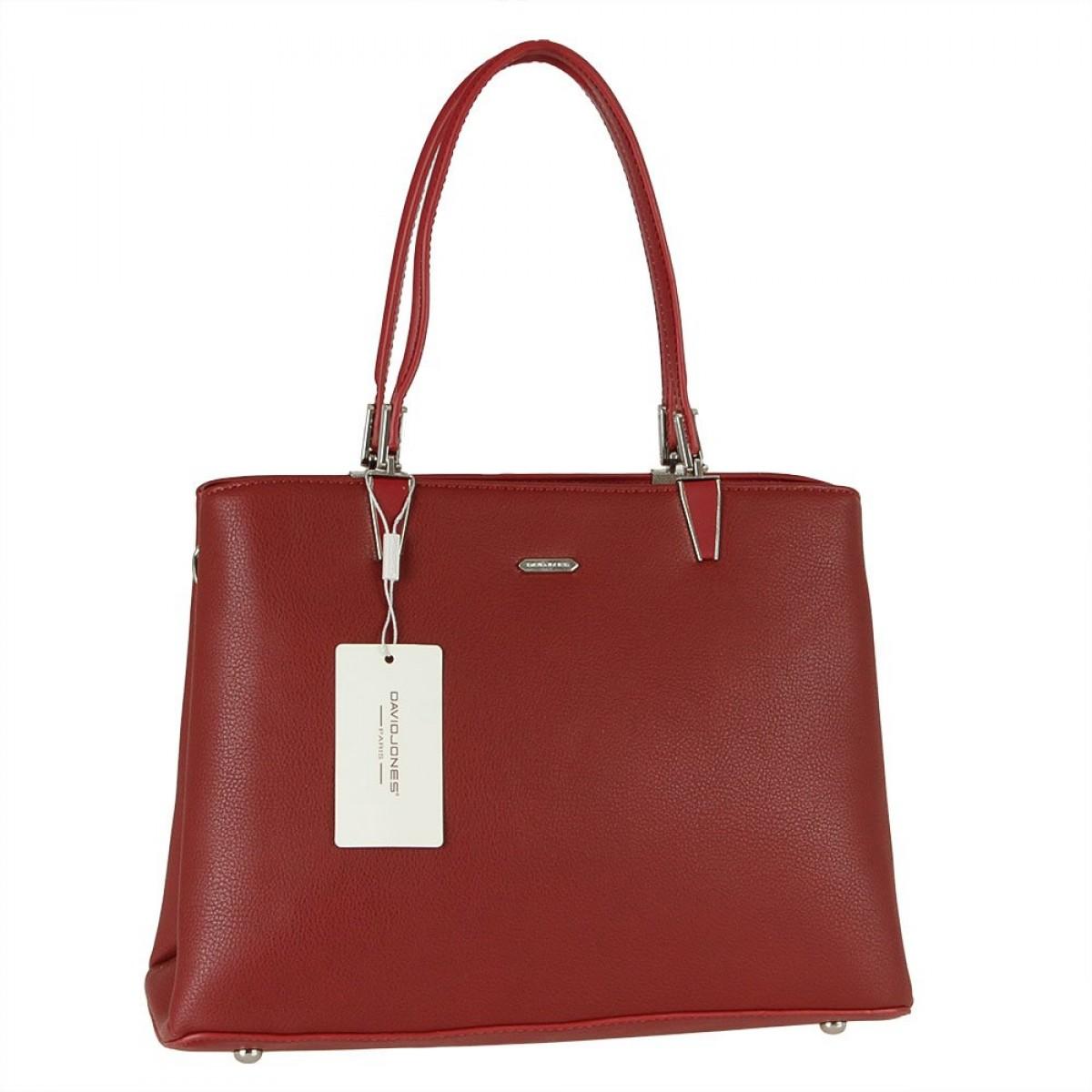 Жіноча сумка David Jones CM5853 DARK RED
