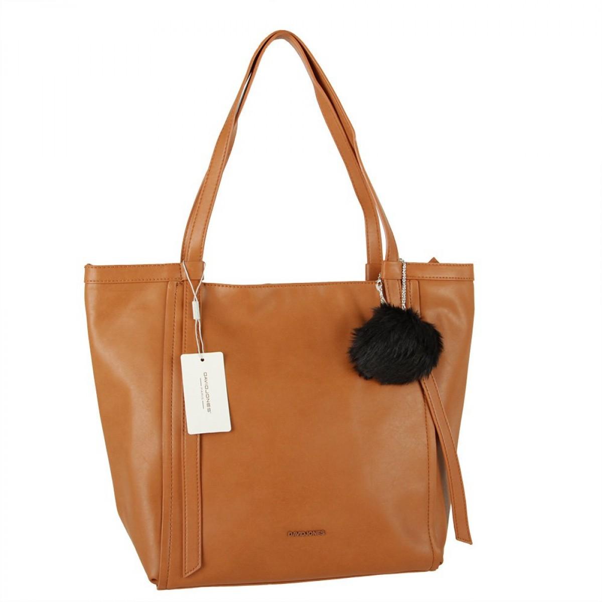 Жіноча сумка David Jones CM5856 COGNAC