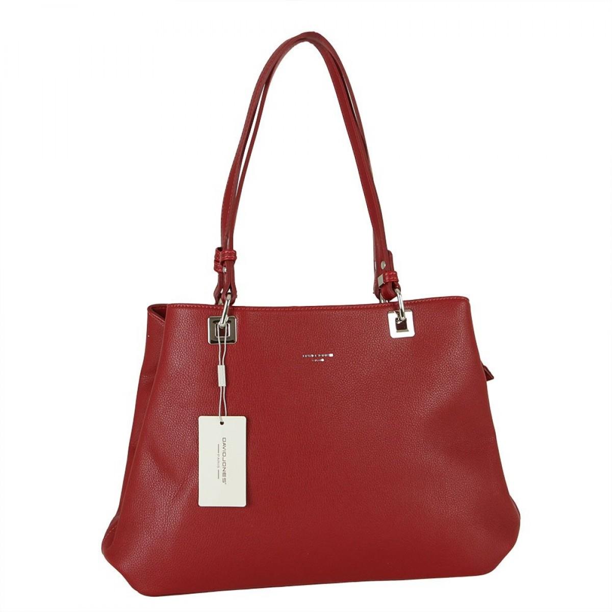Жіноча сумка David Jones CM5879 DARK RED