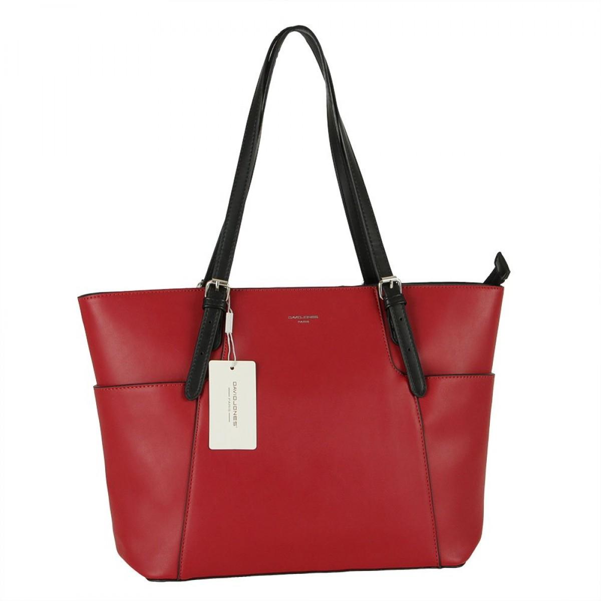 Жіноча сумка David Jones CM5887 DARK RED