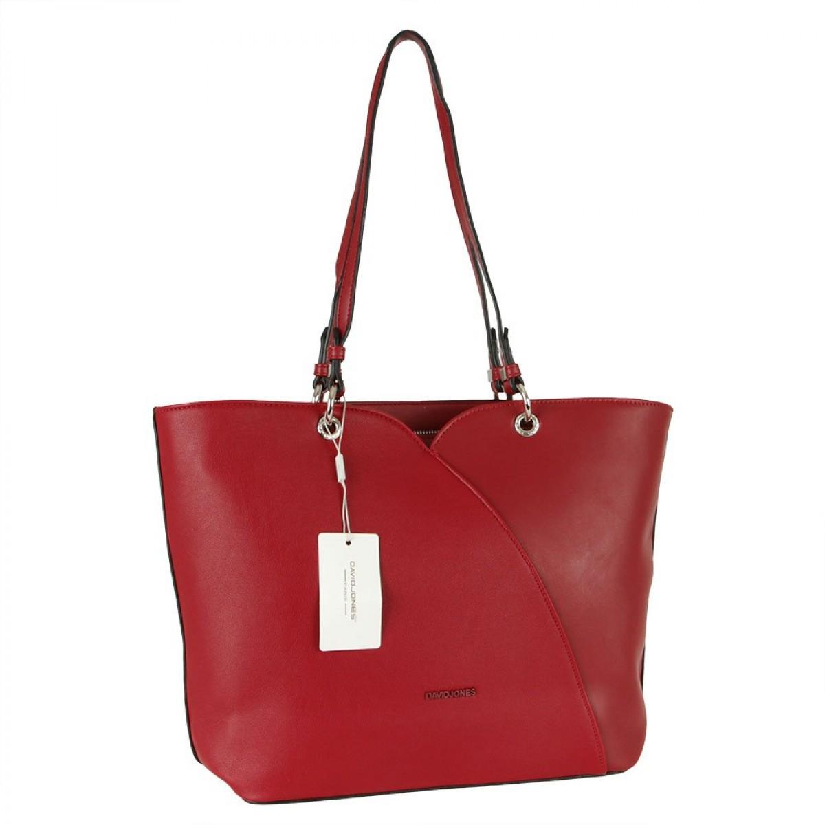 Жіноча сумка David Jones CM5893 DARK RED