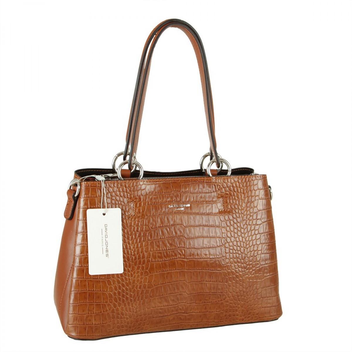 Жіноча сумка David Jones CM5896 COGNAC