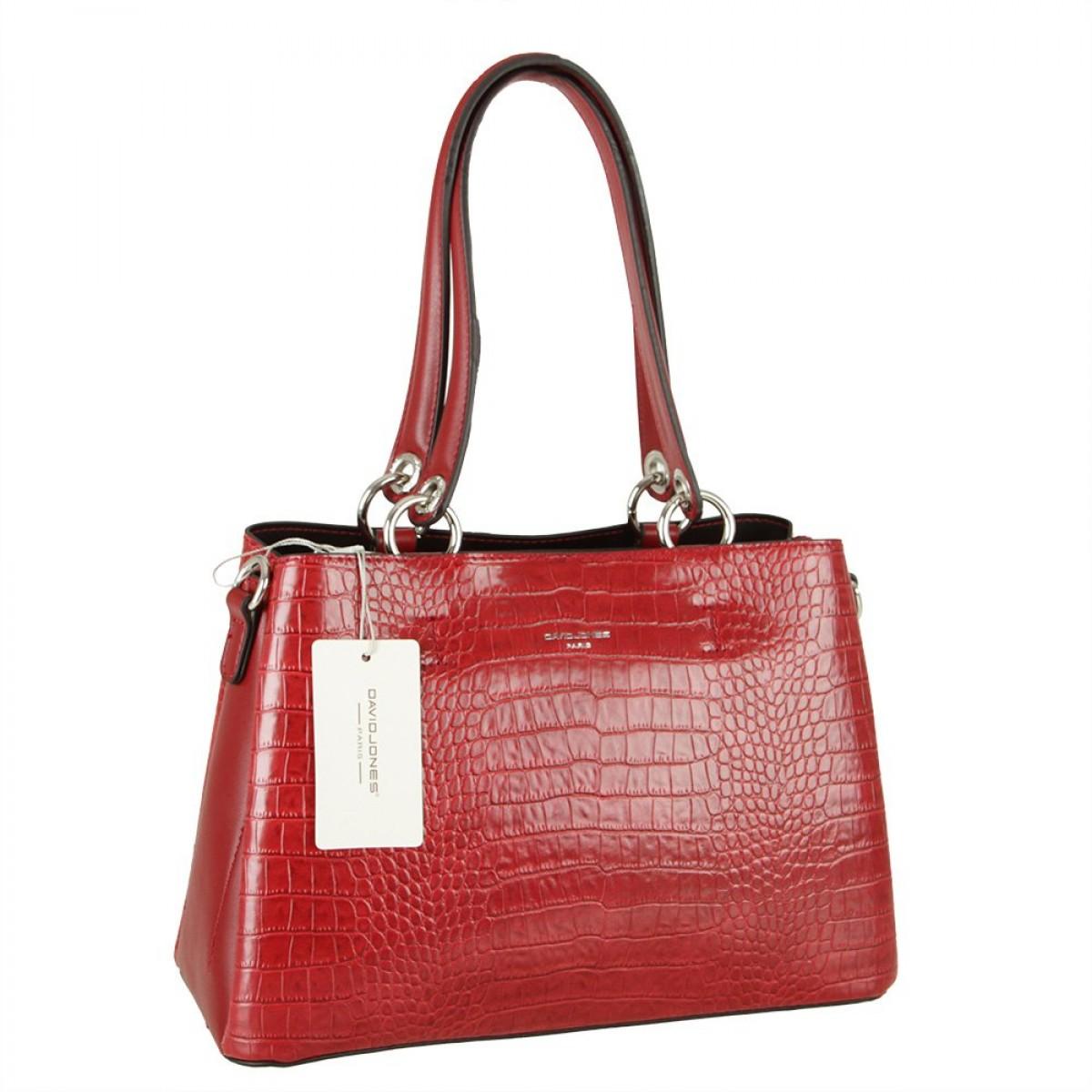 Жіноча сумка David Jones CM5896 DARK RED