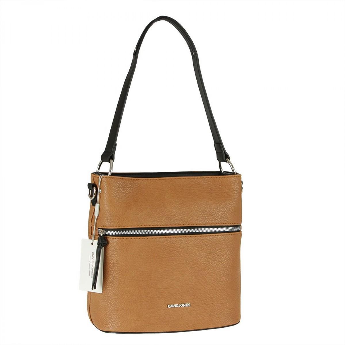 Жіноча сумка David Jones CM5900 COGNAC