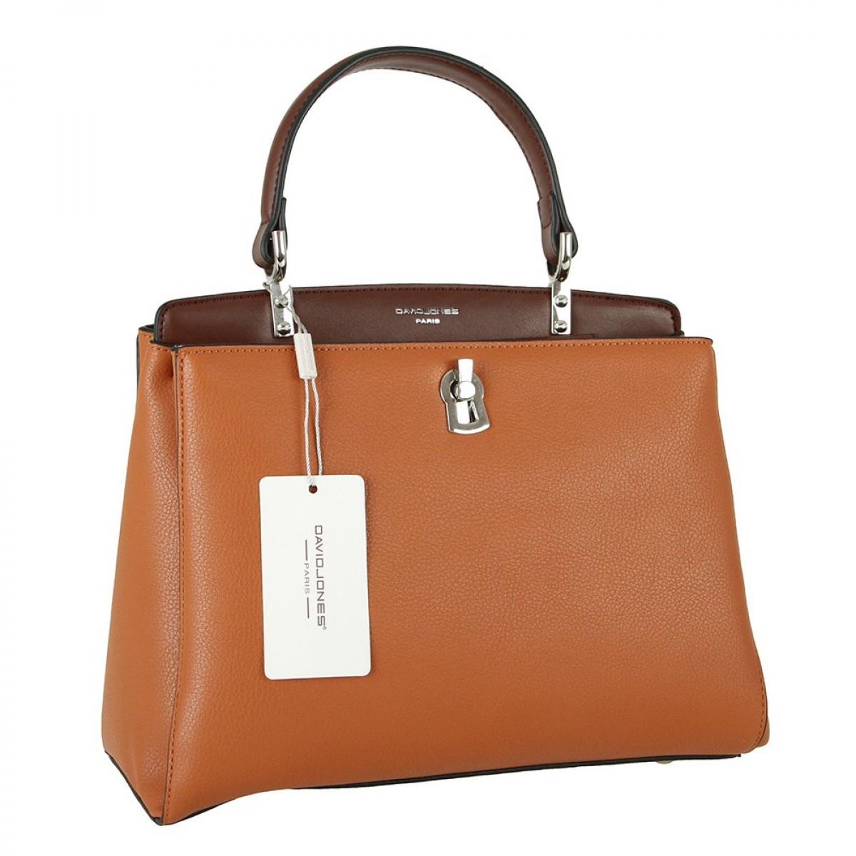 Жіноча сумка David Jones CM5905 COGNAC