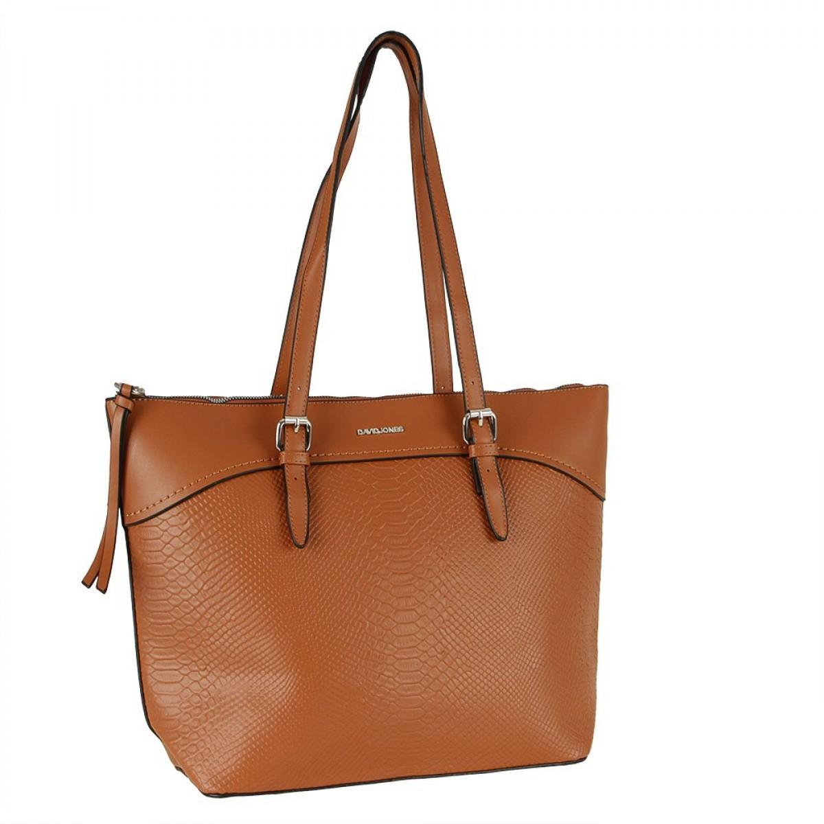 Жіноча сумка David Jones CM5908 COGNAC