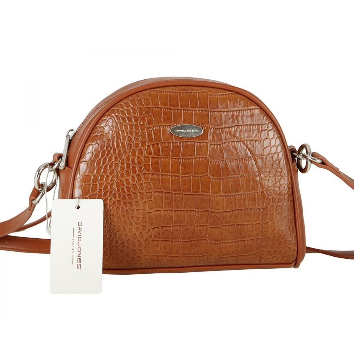 Жіноча сумка David Jones CM5909 COGNAC