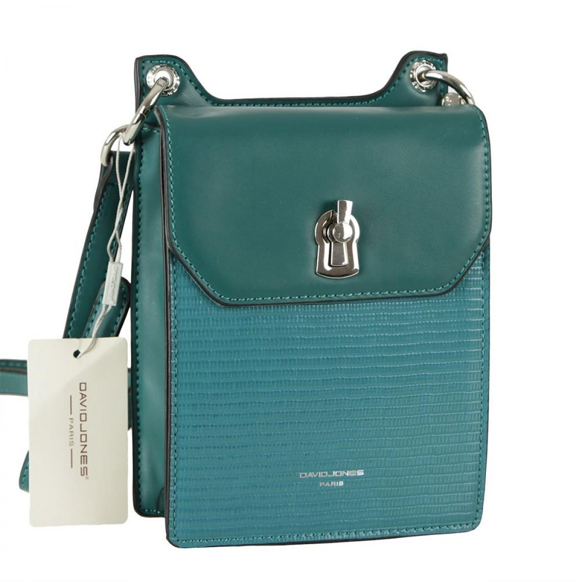 Жіноча сумка David Jones CM5935 D.GREEN