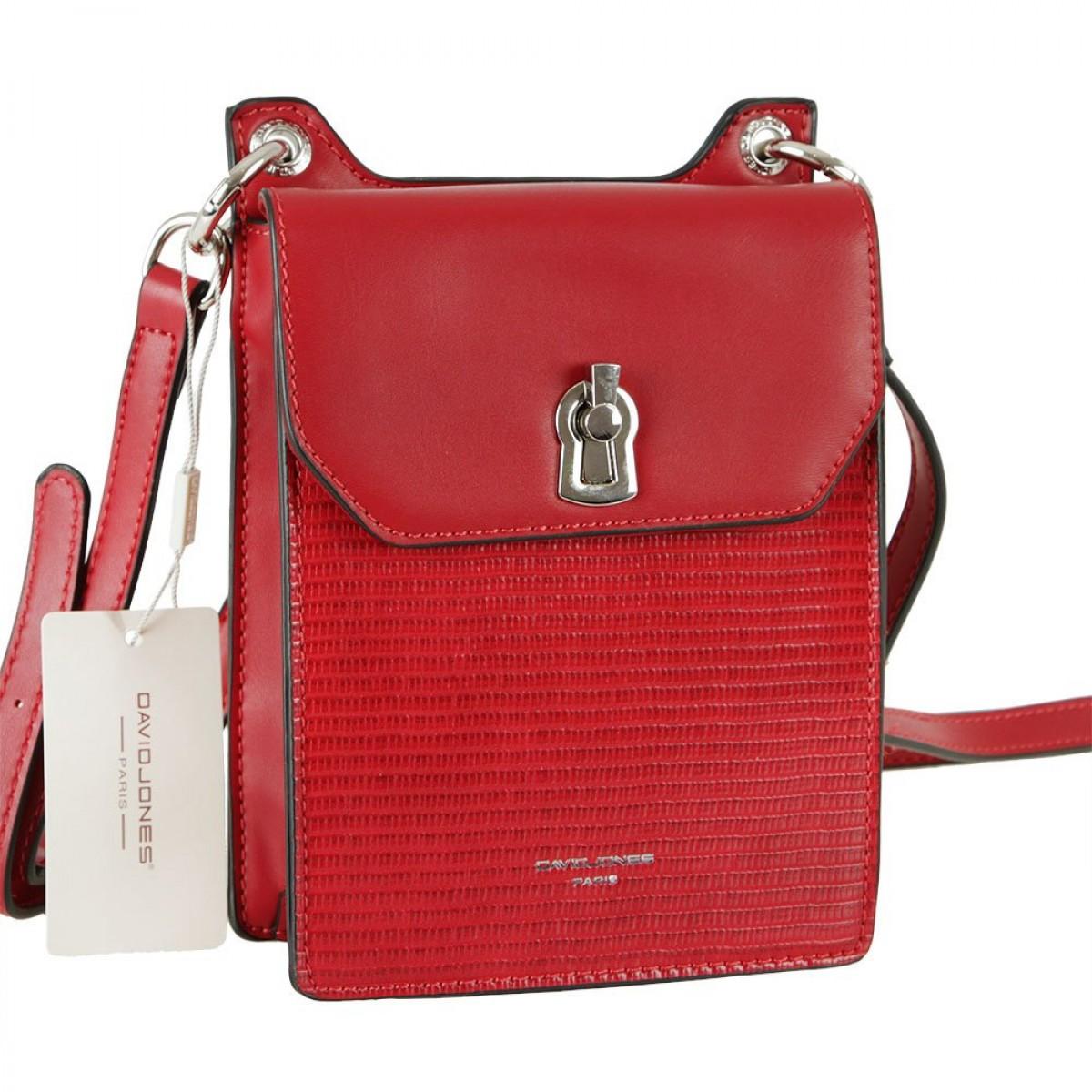 Жіноча сумка David Jones CM5935 DARK RED