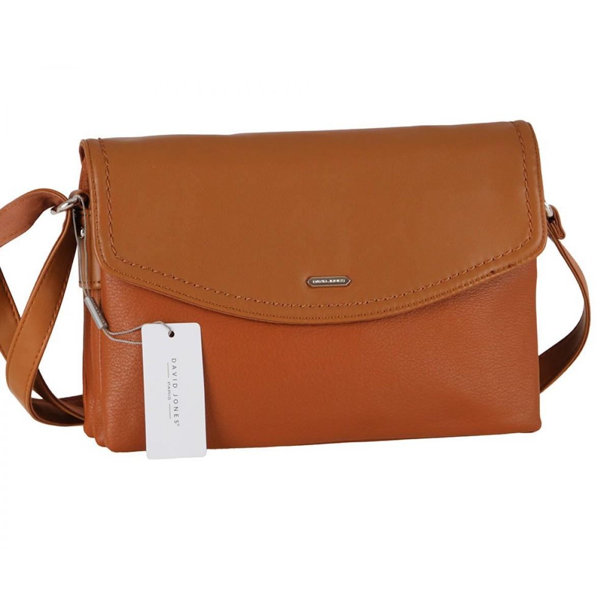 Жіноча сумка David Jones CM6009 COGNAC