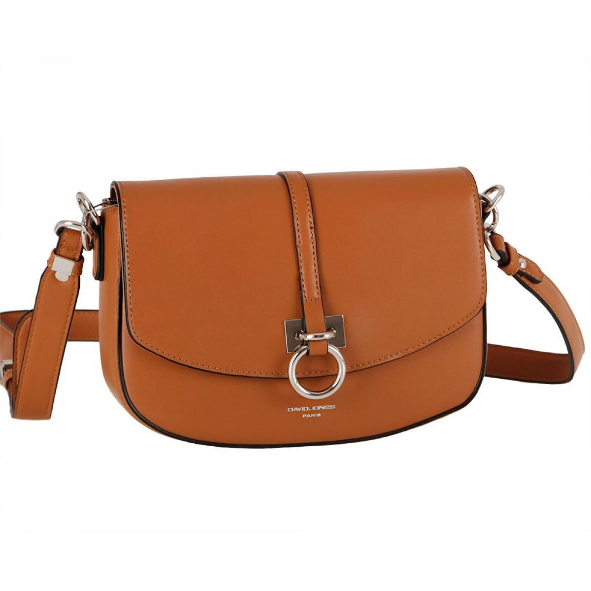 Жіноча сумка David Jones CM6035 COGNAC